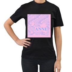 Anne Women s T Shirt (black)