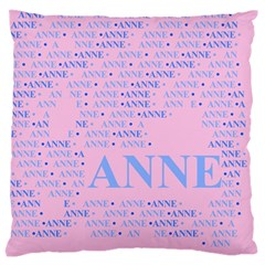 Anne Large Flano Cushion Cases (two Sides)  by MoreColorsinLife