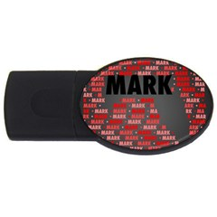 Mark Usb Flash Drive Oval (4 Gb)  by MoreColorsinLife
