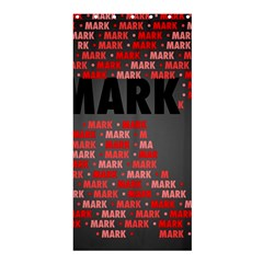 Mark Shower Curtain 36  X 72  (stall)  by MoreColorsinLife