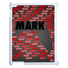 Mark Apple Ipad 2 Case (white) by MoreColorsinLife