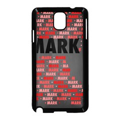 Mark Samsung Galaxy Note 3 Neo Hardshell Case (black) by MoreColorsinLife