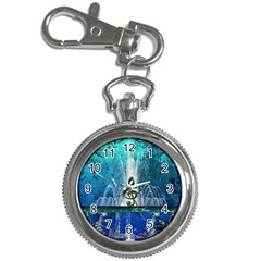 Clef With Water Splash And Floral Elements Key Chain Watches by FantasyWorld7