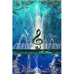 Clef With Water Splash And Floral Elements 5 5  X 8 5  Notebooks