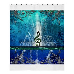 Clef With Water Splash And Floral Elements Shower Curtain 60  X 72  (medium)