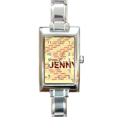 Jenny Rectangle Italian Charm Watches by MoreColorsinLife