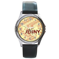 Jenny Round Metal Watches by MoreColorsinLife