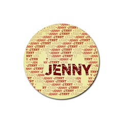 Jenny Rubber Coaster (round)  by MoreColorsinLife