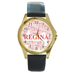 Regina Round Gold Metal Watches by MoreColorsinLife
