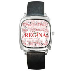 Regina Square Metal Watches by MoreColorsinLife