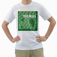Thomas Men s T Shirt (white) (two Sided) by MoreColorsinLife