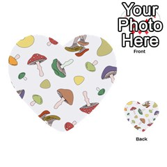 Mushrooms Pattern 02 Multi Purpose Cards (heart)  by Famous