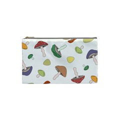 Mushrooms Pattern 02 Cosmetic Bag (small)  by Famous