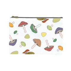 Mushrooms Pattern 02 Cosmetic Bag (large)  by Famous