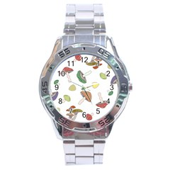 Mushrooms Pattern 02 Stainless Steel Men s Watch by Famous