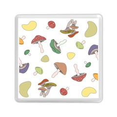 Mushrooms Pattern 02 Memory Card Reader (square)  by Famous