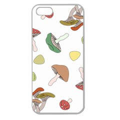 Mushrooms Pattern 02 Apple Seamless Iphone 5 Case (clear) by Famous