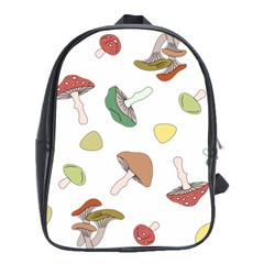 Mushrooms Pattern 02 School Bags (xl)