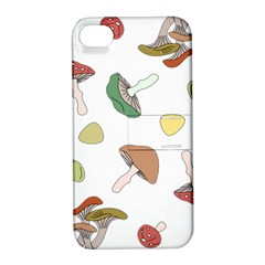 Mushrooms Pattern 02 Apple Iphone 4/4s Hardshell Case With Stand by Famous