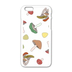 Mushrooms Pattern 02 Apple Iphone 6 White Enamel Case by Famous