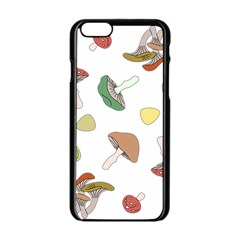 Mushrooms Pattern 02 Apple Iphone 6 Black Enamel Case by Famous