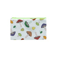 Mushrooms Pattern 02 Cosmetic Bag (xs) by Famous