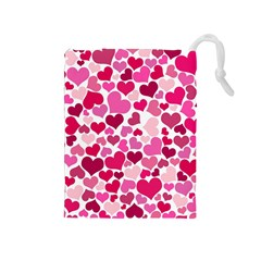 Heart 2014 0933 Drawstring Pouches (medium)  by JAMFoto