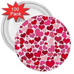 Heart 2014 0934 3  Buttons (100 Pack)  by JAMFoto