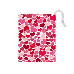 Heart 2014 0934 Drawstring Pouches (medium)  by JAMFoto