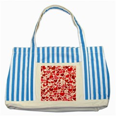 Heart 2014 0935 Striped Blue Tote Bag  by JAMFoto