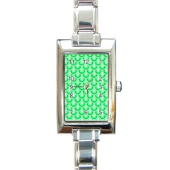 Awesome Retro Pattern Green Rectangle Italian Charm Watches by ImpressiveMoments