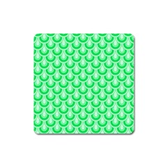 Awesome Retro Pattern Green Square Magnet by ImpressiveMoments
