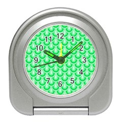 Awesome Retro Pattern Green Travel Alarm Clocks