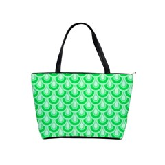 Awesome Retro Pattern Green Shoulder Handbags by ImpressiveMoments