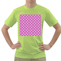 Awesome Retro Pattern Lilac Green T Shirt