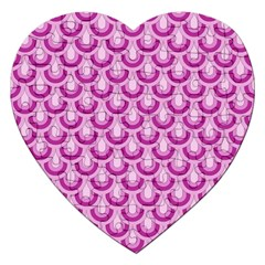 Awesome Retro Pattern Lilac Jigsaw Puzzle (heart) by ImpressiveMoments