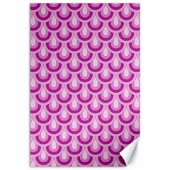Awesome Retro Pattern Lilac Canvas 24  X 36  by ImpressiveMoments