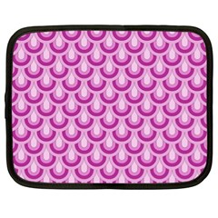 Awesome Retro Pattern Lilac Netbook Case (xl)  by ImpressiveMoments
