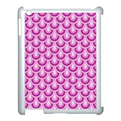 Awesome Retro Pattern Lilac Apple Ipad 3/4 Case (white) by ImpressiveMoments