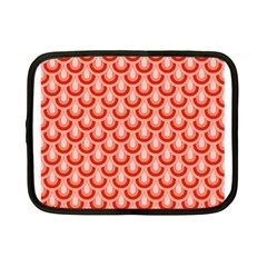 Awesome Retro Pattern Red Netbook Case (small)  by ImpressiveMoments