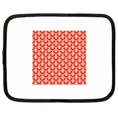 Awesome Retro Pattern Red Netbook Case (large)	 by ImpressiveMoments