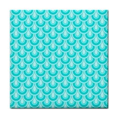 Awesome Retro Pattern Turquoise Tile Coasters by ImpressiveMoments