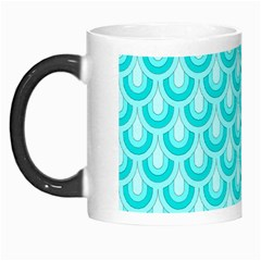 Awesome Retro Pattern Turquoise Morph Mugs by ImpressiveMoments