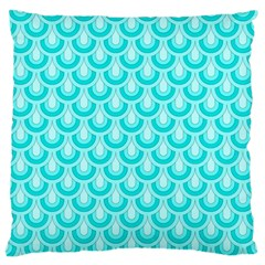 Awesome Retro Pattern Turquoise Standard Flano Cushion Cases (one Side)  by ImpressiveMoments