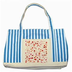 Heart 2014 0602 Striped Blue Tote Bag