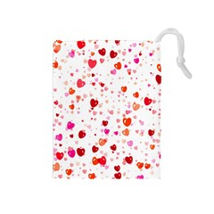 Heart 2014 0602 Drawstring Pouches (medium)  by JAMFoto