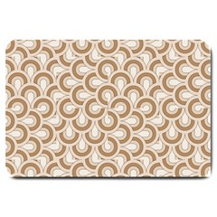Retro Mirror Pattern Brown Large Doormat  by ImpressiveMoments