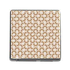 Retro Mirror Pattern Brown Memory Card Reader (square) by ImpressiveMoments