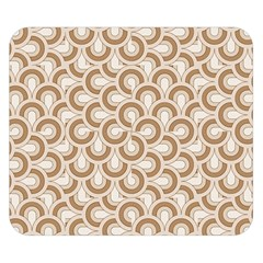 Retro Mirror Pattern Brown Double Sided Flano Blanket (small)