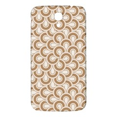 Retro Mirror Pattern Brown Samsung Galaxy Mega I9200 Hardshell Back Case by ImpressiveMoments